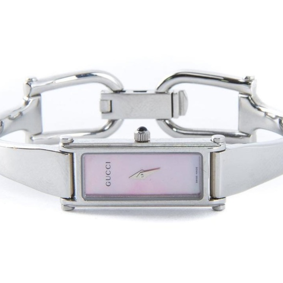 0245cc4fa73 Gucci Accessories - Gucci Stainless Pink Mother Of Pearl Steel 1500 L